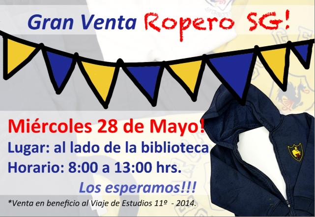 28 de mayo, venta del Ropero Saint George