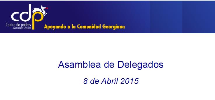 Asamblea de delegados revisó gestión 2014 y objetivos 2015 del CDP