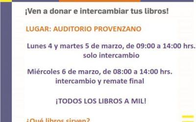 Feria Libro x Libro, 4 y 5 de marzo