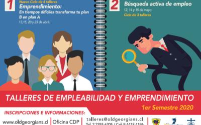 Participa en Talleres de Empleabilidad 2020
